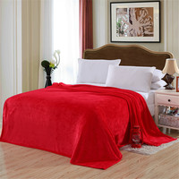 Solid Color Flannel Blanket Sofa Bedding Throws Soft Plaids Winter Warm Flat Sheet 150 200cm 180