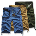 Marca Casuais Mens Shorts Camuflagem Do Exército Carga Combate Camo Geral Shorts Homens Soltos de Algodão Calças Curtas Bermuda k19