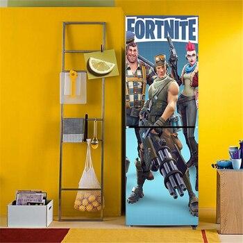 Stickers PVC Décors Porte Réfrigérateur Fortnite