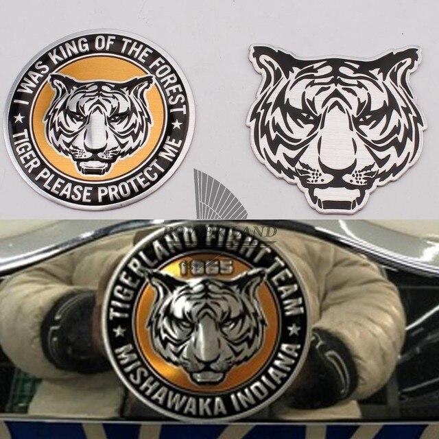 Auto Korper Dekoration Tier Aufkleber Logo Metall 3d Tiger Aluminium