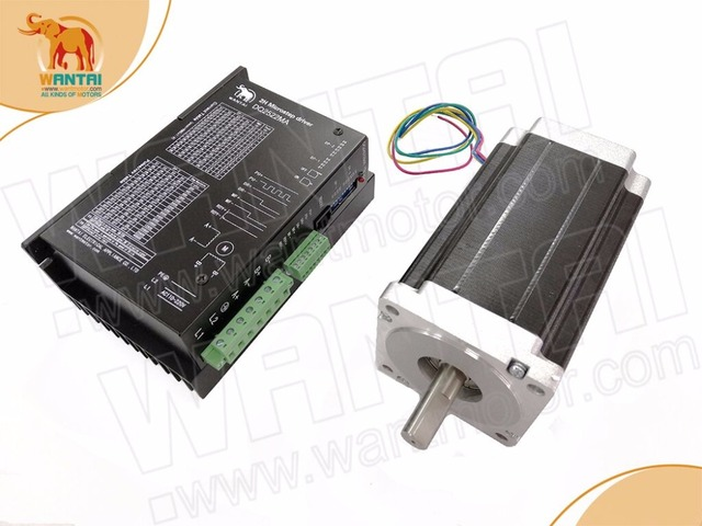 New CNC kit! Wantai Nema 34 Stepper Motor 85BYGH450C 060 1600oz in+Driver DQ2522MA 5A CNC Router Embroidery Grind
