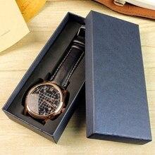 Коробка для часов чехол для хранения длинный тип ювелирных изделий дисплей подарки упаковка Органайзер элегантный