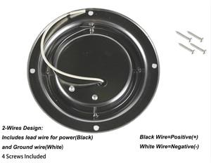 Image 2 - 3 W Araba Iç LED Tavan kubbe ışık Beyaz Paslanmaz Çelik Lamba 12 V tekne Karavan Motorlu Ev Aksesuarları