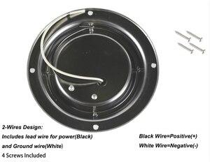 Image 2 - 3 W Car Interior LED Soffitto A Cupola di Luce Bianca della Lampada In Acciaio Inox per 12 V Marine Barca Roulotte Camper accessori