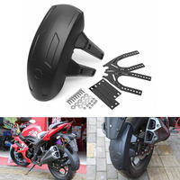 Universal Motorcycle Rear Wheel for fender Splash Guard Rear Wheel Cover Splash Guard Mudguard w/Bracket Splash Guard for Fender 3