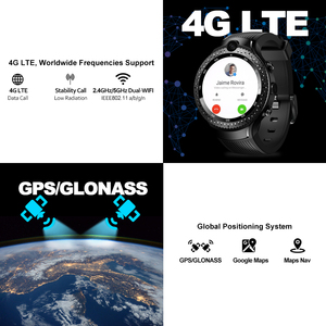 "Image 4 - [משלוח TWS אוזניות] Zeblaze THOR 4 כפולה 4G SmartWatch 5.0MP + 5.0MP כפולה מצלמה 1.4 ""AOMLED GPS/GLONASS 1GB + 16GB חכם שעון גברים"