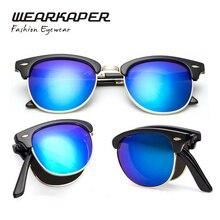 WEARKAPER Plegables Polarizadas Clásicas gafas de Sol de Los Hombres Polarizador Polarizada Gafas Oculos Lunettes de Soleil