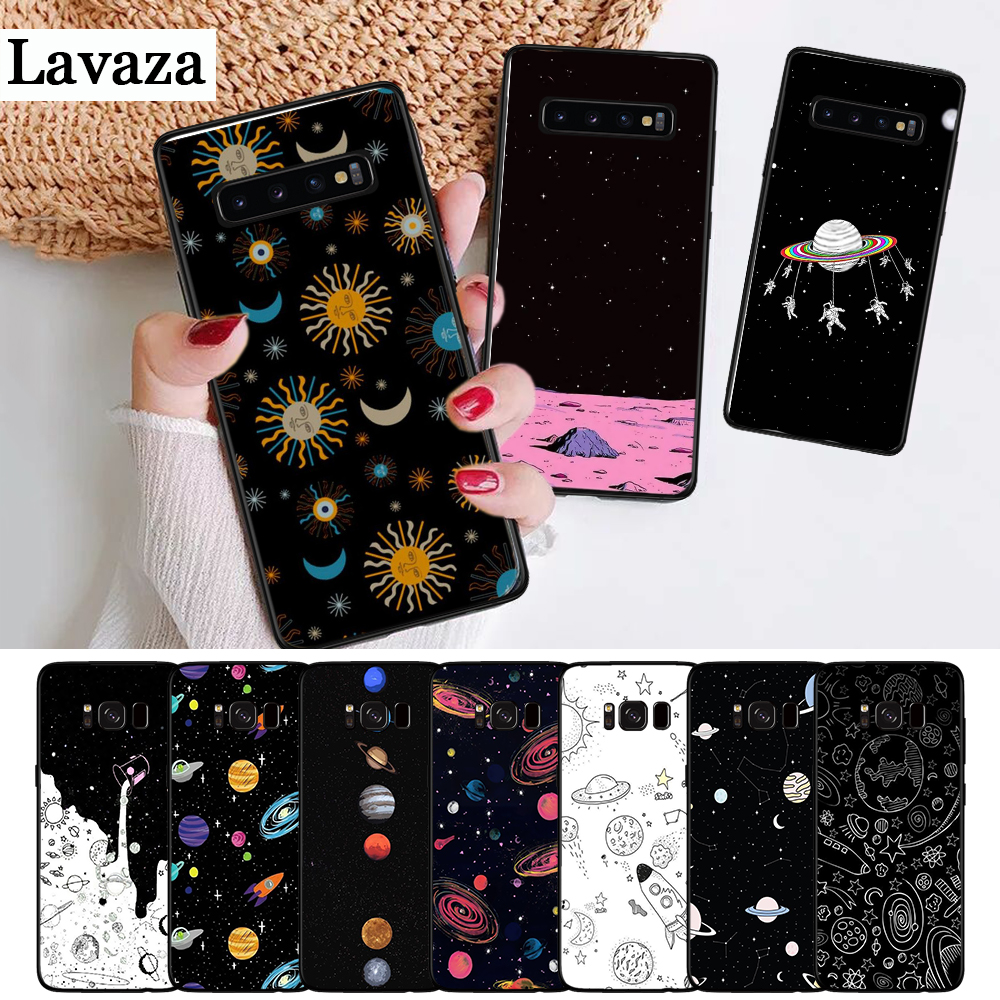 Lavaza space Stars Moon Airship Astronaut Silicone Case for Samsung S6 Edge S7 S8 Plus S9 S10 S10e Note 8 9 10 M10 M20 M30 M40