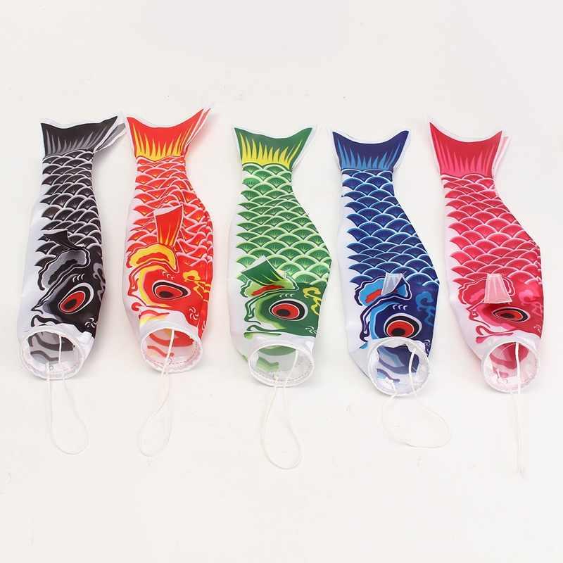 KiWarm On Sale 40cm Japanese Style Koi Nobori Carp Wind Sock Koinobori Fish Waterproof Flags Kite for Home Decor Mascot Crafts