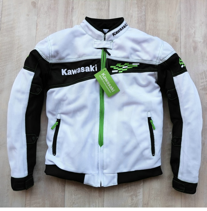 New Spring Autumn Motorcycle Riding Jacket Moto Veste For Kawasaki Team Green Motocross Rally Racing Protective Jackets