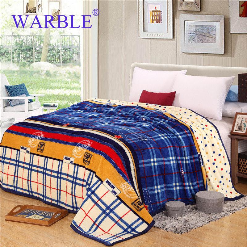 WARBLE Super Soft Cheap Flannel Fleece Blanket On The Bed
