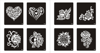80 New Designs Temporary Airbrush Festival Art Reusable Tattoo Stencil Airbrush Stencils Template Booklet Set Album
