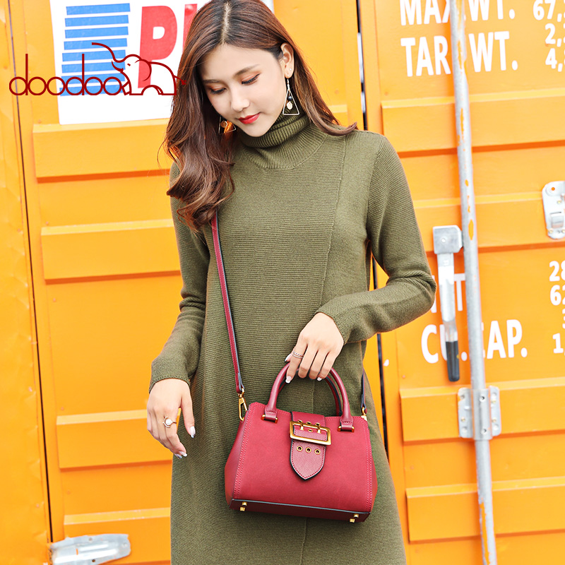 Doodoo Brand Fashion Female Double Strap Shoulder Bag Messenger Pu Leather Women Handbag Las Business Crossbody Bags In From Luggage