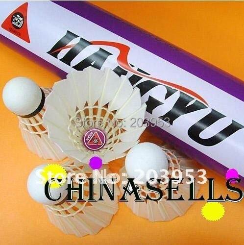 Высококачественная натуральная Hangyu № 3 прочный перо утки бадминтон Волан