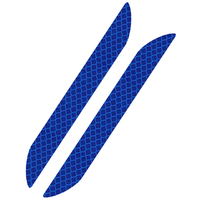 Авто светоотражающие полосы наклейки Авто Стиль украшения автомобильные Аксессуары для мотоциклов 4x12 см синий