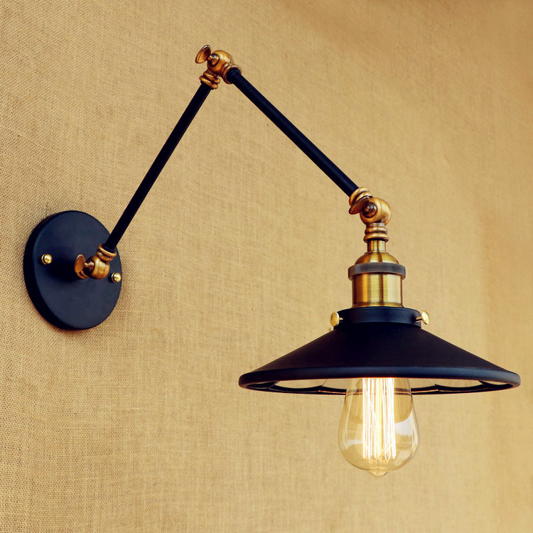 Retro Swing Long Arm Wall Light Fixtures Wandlamp LED Edison Style Loft Industrial Vintage Wall Lamp Sconces Lampara Pared loft retro industrial two section swing arm metal wall lamp fixture wandlamp industrieel lampara de pared espejos bano
