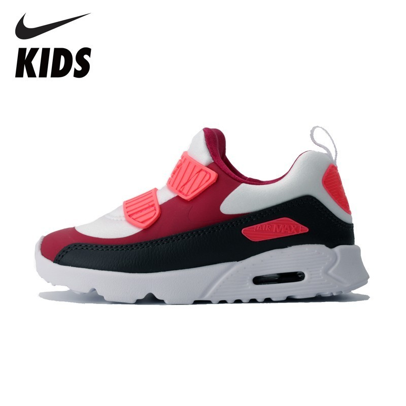 Nike Air Max Tiny 90 Air Cushion Shock Absorption Kids Running Shoes Toddlers Outdoor Sports Sneakers 881927 881926 summer breathable air cushion fly line sports women running shoes shock absorption increase tourism shoes spring female sneakers