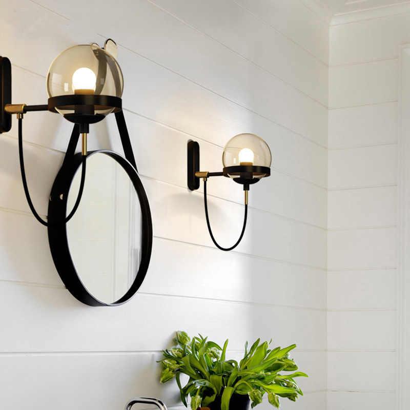 קיר מנורות מודרני תעשייתי לופט קישוט קיר אור רטרו בציר קיר מנורת קיר פמוטים בר קפה מסעדת תאורה