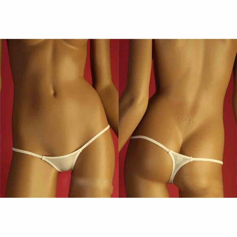 Sexy Low Waist Ice Silk Transparent G-string Women See Through Mini Briefs G String Micro Thong Womens Underwear Lingerie Briefs