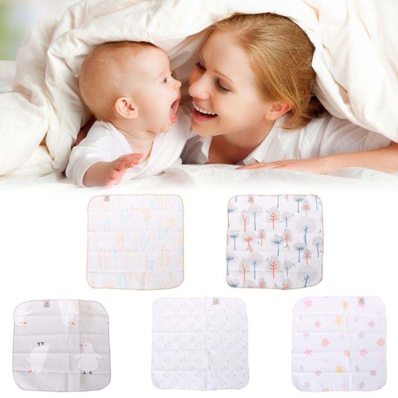 Baby Towel 27x27cm Blend Cotton Soft Wipe Food Washing Face Square Random Color