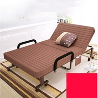 Очень большая металлическая рама раскладная кровать/кроватка с мягкой подкладкой Регулируемая Задняя шезлонг для дома/офиса полдень отдых