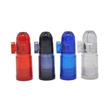 Акриловый Пластиковый Дозатор для нюхательного табака трубка пуля Ракета Форма носовой нюхать