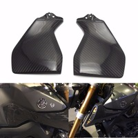 MT 09 FZ 09 Real Carbon Fiber Gas Tank Side Cover Trim Fairing For YAMAHA MT