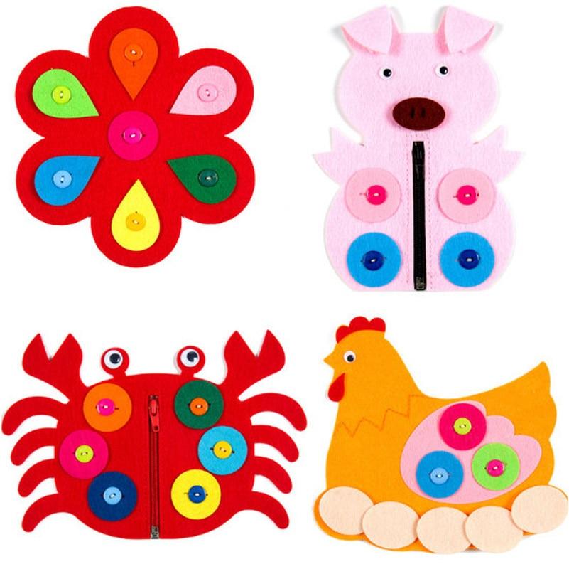 1pc Hand Zipper Button Teaching Kindergarten Manual Diy Weave Cloth Early  Education Toys Montessori Teaching Aids Math Toys #2
