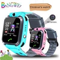 BANGWEI lbs трекер дети смотрят Камера touch Экран SOS вызова расположение детские часы Детские умные часы Q528 Y21 2G sim карты + коробка