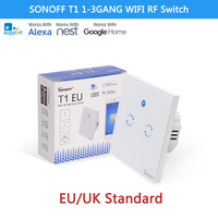 Sonoff T1 1 2 3 Gang WiFi Smart Home RF APP Touch Remote Control Wall Light