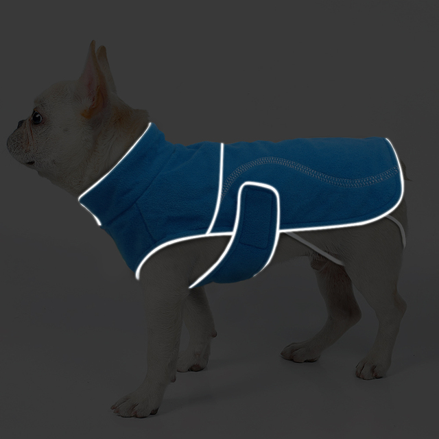 Soft Fleece Winter Dog Coat Jacket for Small Dogs Warm Puppy Large Dogs Vest Clothes Reflective Lining Roupa Cachorro S-5XL