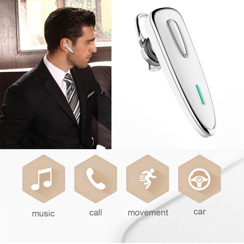 Long Standby Bluetooth 4.1 Wireless Stereo Business In-ear Headset  intelligent noise canceling earphone for Smart Phone L3FE wireless bluetooth earphone car charger original business dual usb dock headset with mic noise canceling phone charger 2 in 1