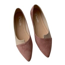 Luxury Womens Flat Shoes Cover Heel Shallow Women Splice Color Flats Fashion Pointed Toe Ballerina Ballet Flat Slip On Shoes