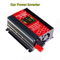 300W or 600W Power Inverter DC12V to 220V AC Car Inverter with 3.1A USB Car Charge with LED Light