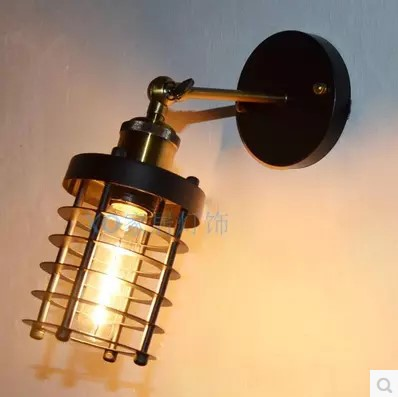 ФОТО 60W America Retro Loft Style Vintage Industrial Wall Lamp Edison Wall Sconce Arandela Lamparas De Pared