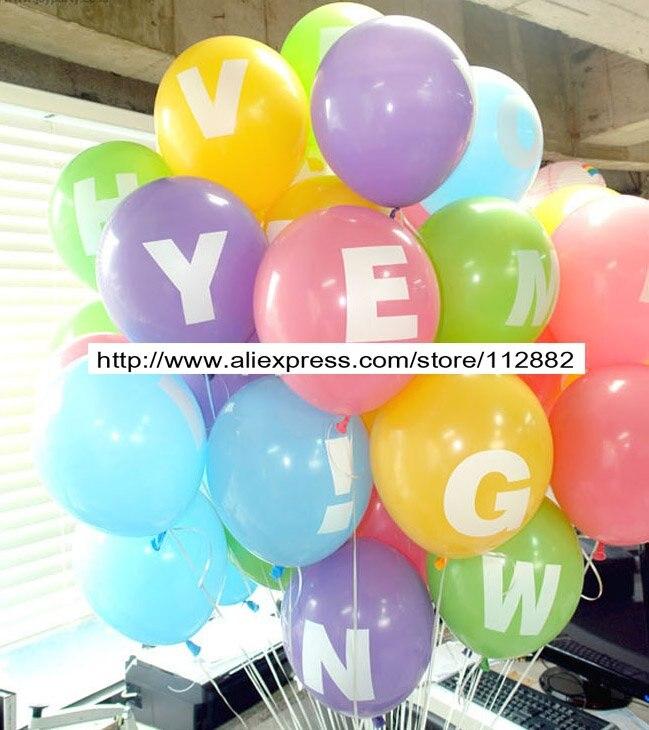 12 Inch Printed Az Alphabet Balloons Number Balloon Wedding