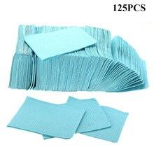 أحدث مناديل تنظيف الوشم الأزرق 125 قطعة ، مرايل ثقب الأسنان للاستعمال مرة واحدة ، مرايل مقاومة للماء ، اكسوارات وشم ورقية