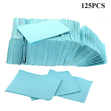 Newest 125 pcs Blue Tattoo Cleaning Wipes Disposable Dental Piercing Bibs Waterproof Sheets Paper Tattoo Accessories