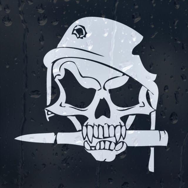 Skull skeleton bone crossbone hat decal vinyl car window windscreen wall home bumper sticker halloween xmas