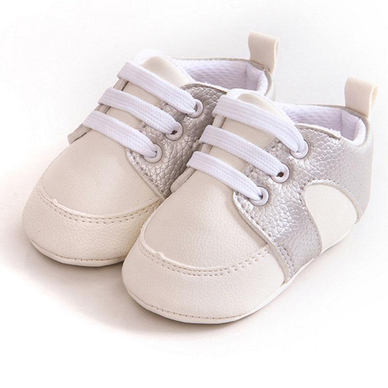 Купить с кэшбэком Simple style Baby boy girl PU soft bottom Flat shoes pedometer shoes learning walking shoes first walk Toddler