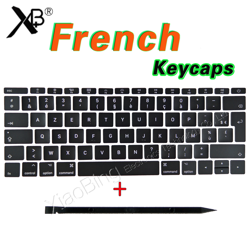 New For Macbook Pro Retina 13 15 A1706 A1707 A1708 FR French AZERTY Keyboard Key Cap Keycaps 2016 2017 image