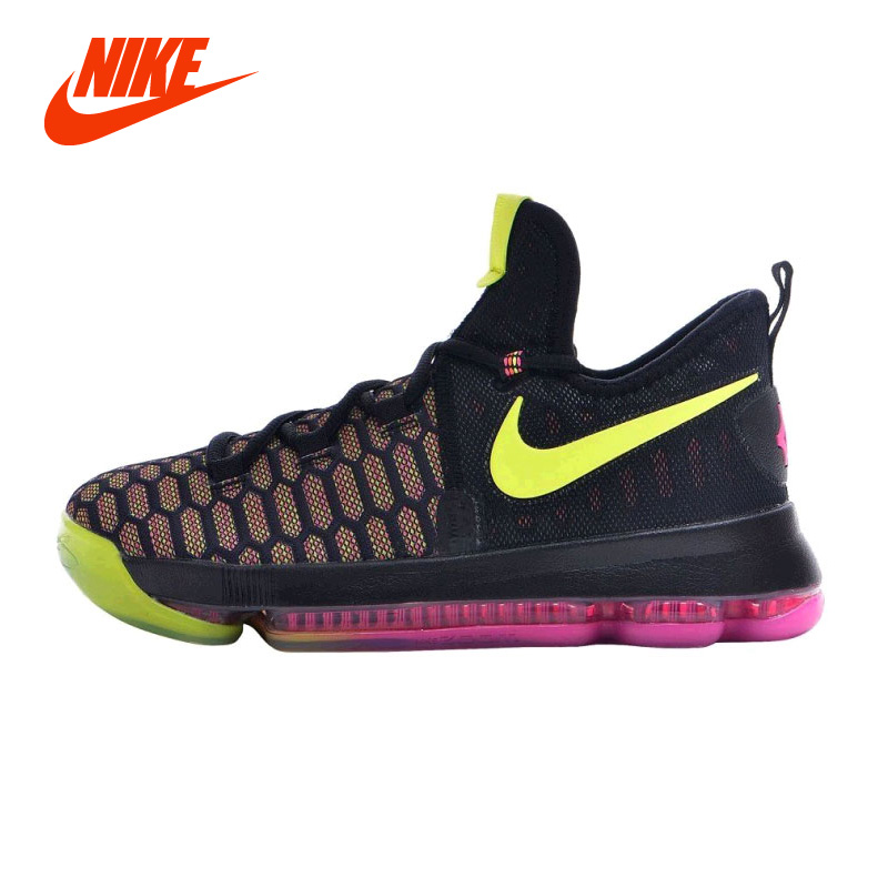 New Original NIKE ZOOM KD9 (GS) Basketball Kids Unisex Shoe Zoom Air Flyknit Max Sport Sneaker Big Size 36-40 nike nike downshifter 6 gs ps