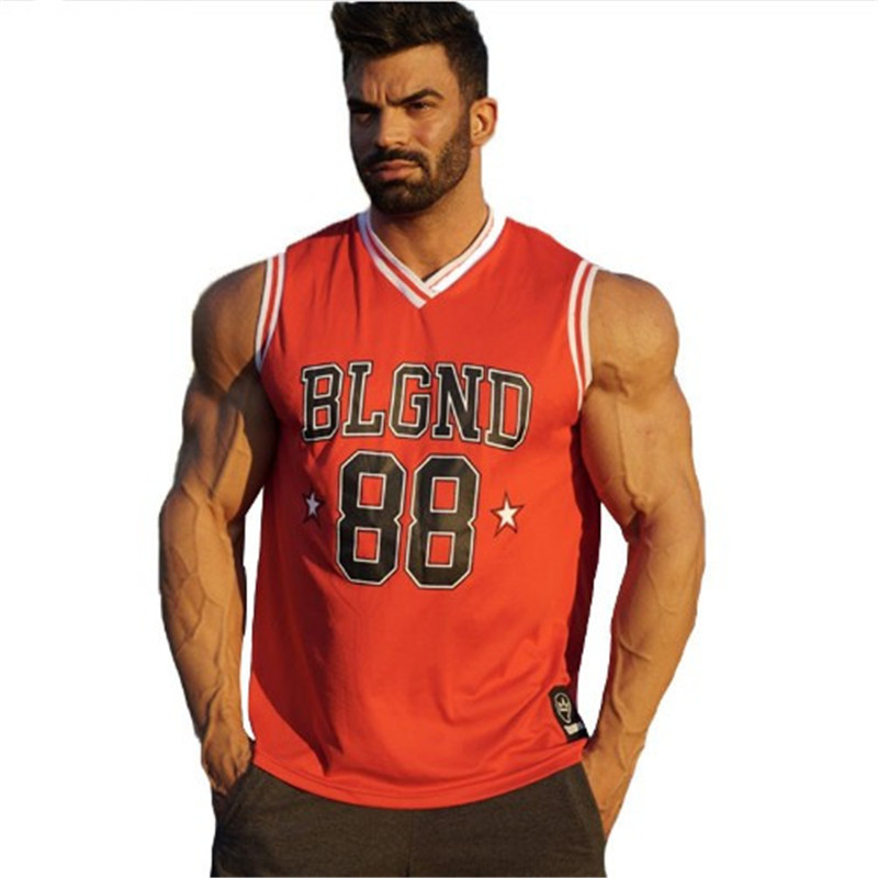New Men   Tank     Tops   Gyms Fitness sleeveless Vest Casual Bodybuilding Breathable Quick-drying   Tops   Summer Male basketball Clothing