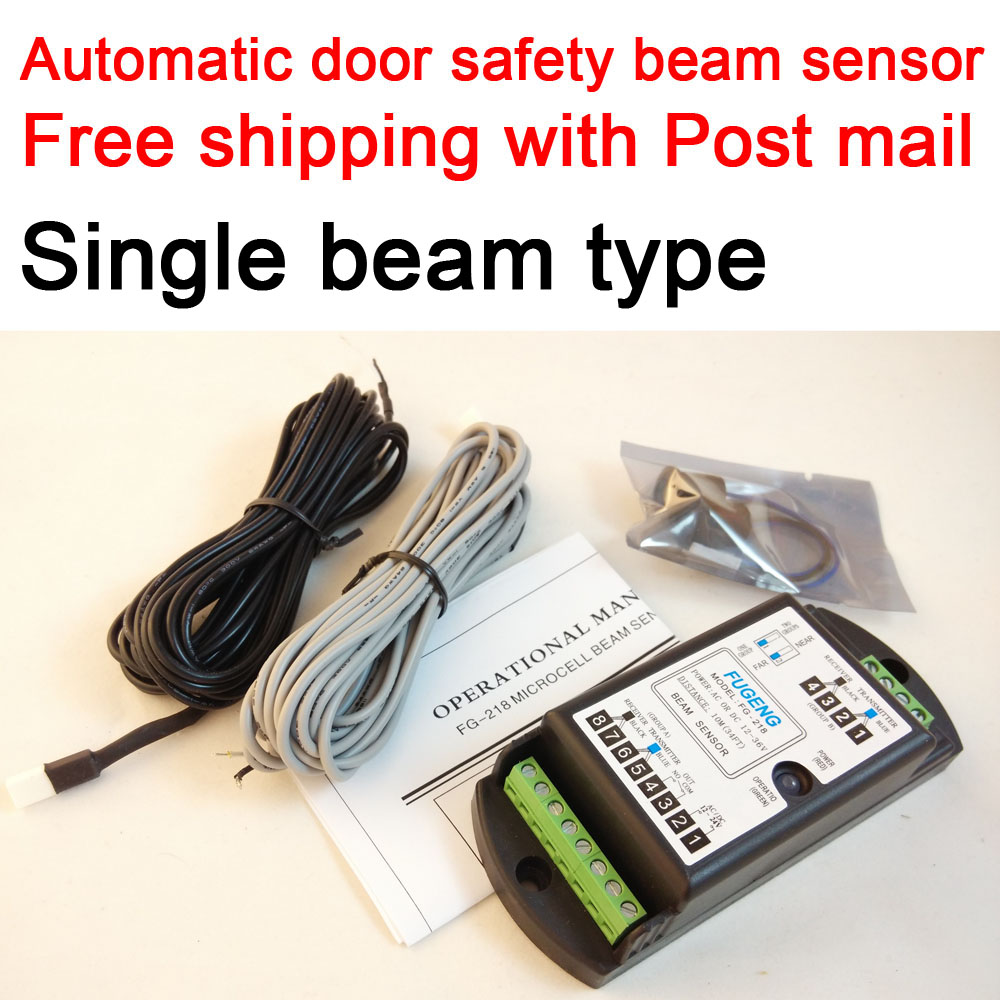 Free Shipping With Post Air Mail / Automatic Sliding Door Microcell Safety Protection Beam Sensor FG-218 (Single Beam)