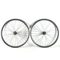 Mountain Bike Carbon Wheels 27 5er 28mm Wide Offset Mtb 24 24 Hole Clincher Hookless Rim