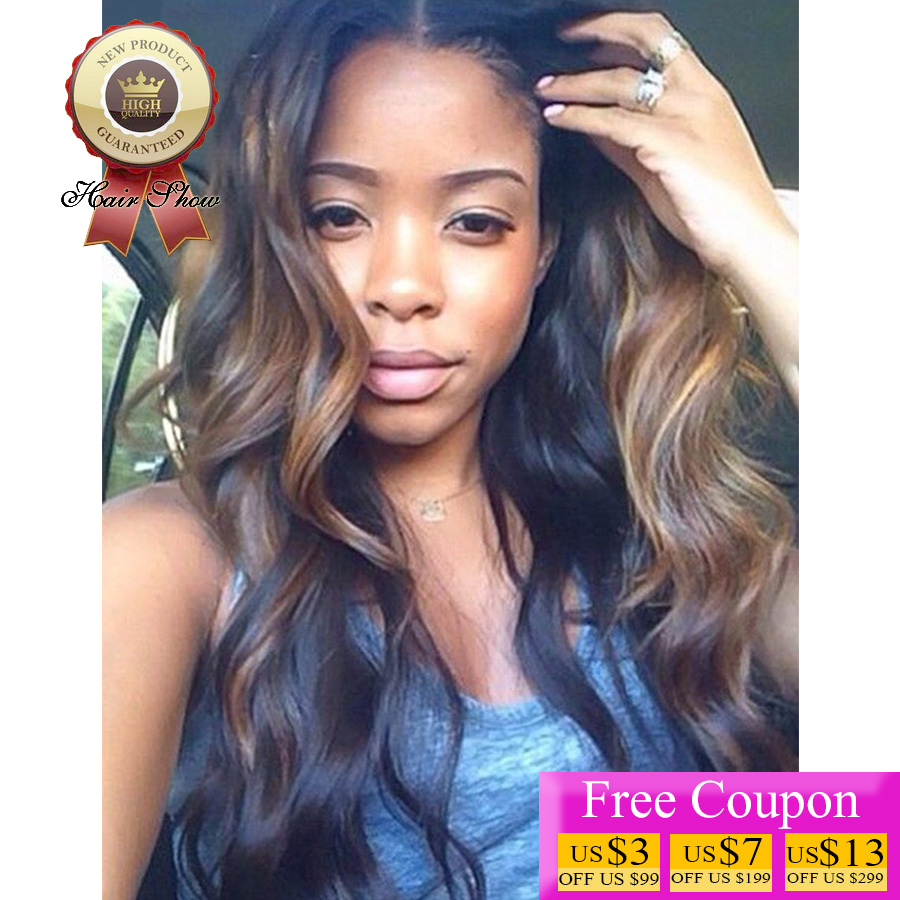 Black hair with ombre highlights choice image hair extension 7a brazilian hair body wave full lace human hair wigs ombre 7a brazilian hair body wave pmusecretfo Gallery