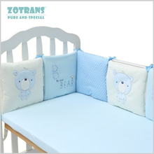 Baby Crib Bumpers in the Bed Around and Baby Bedding Protector Cartoon Animal Newborn Bed Bumper Set Baby Room decor