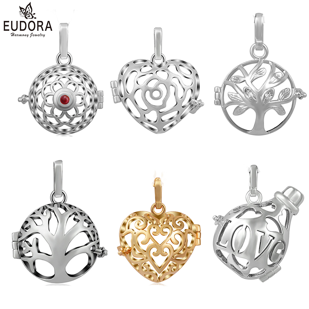 Harmony Ball FLEUR Pendant Necklace Baby Sterling Silver Pregnancy Mum