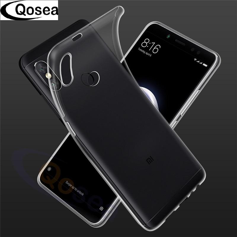 Qosea для Xiaomi Redmi Note 5 Pro Чехол прозрачный тонкий силиконовый ультра тонкий ТПУ мягкий для Redmi Note 5 pro Защитная крышка