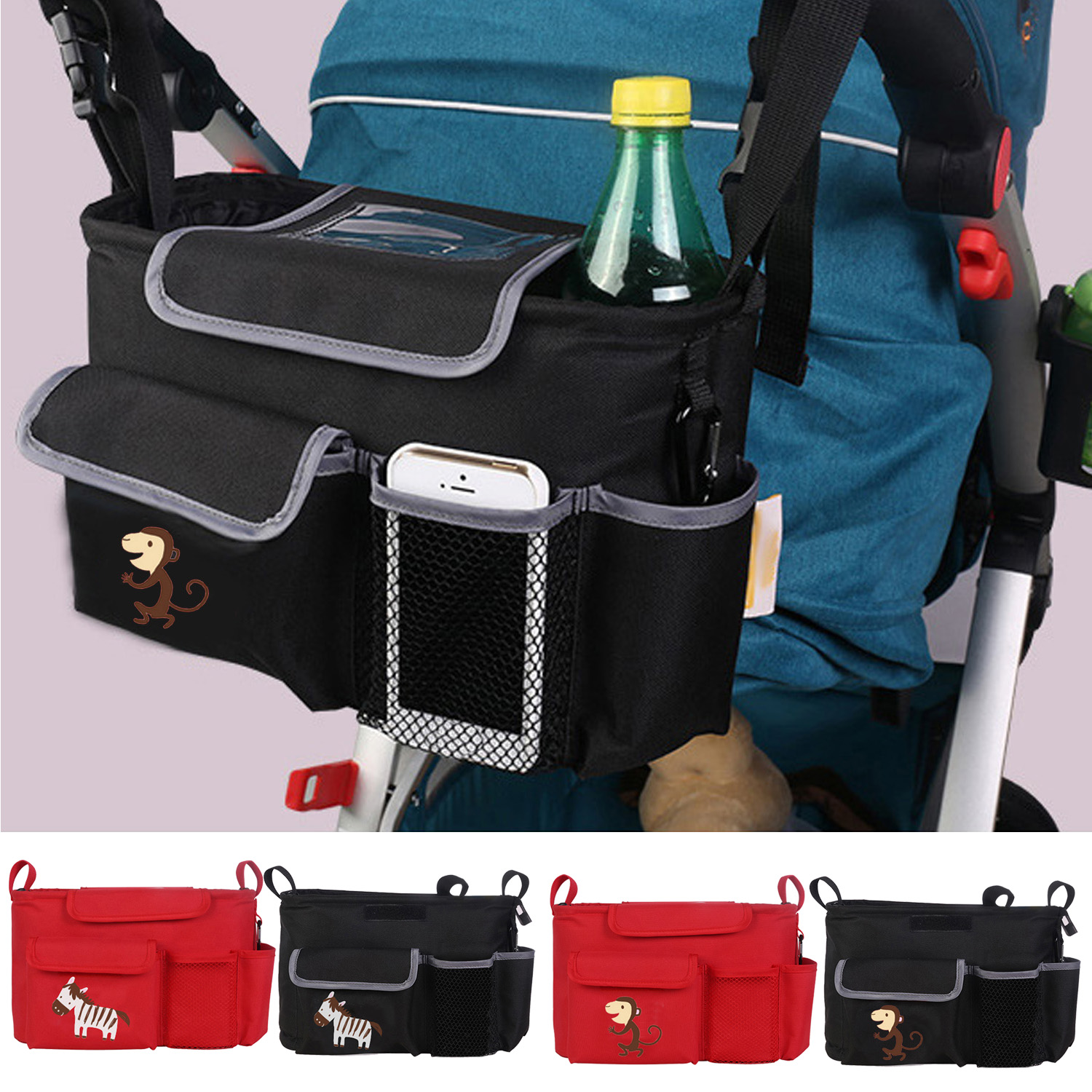 3c005b02cfc3 Buy Portable Baby Stroller Hanging Storage Organizer Bag Large Capacity for  Outdoors Traveling Containing Diapers Milk Bottle Towel Online